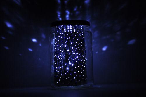 Lámpara proyector de estrellas led