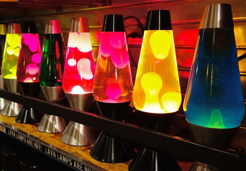 Lámparas de magma de colores bonitas